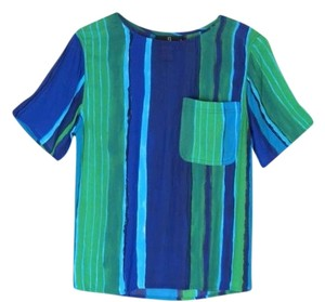 Carole Little Top Blue