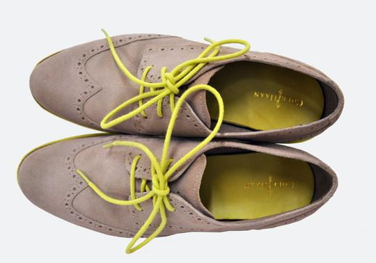 Cole Haan Lunargrand Oxfords Suede Wingtip maple sugar and lime light Flats