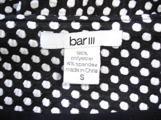 Bar III And White Dot White Dots Fit And Flare Flare Casual Mini White Dot Skirt black