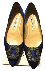 Manolo Blahnik Royal Blue Flats