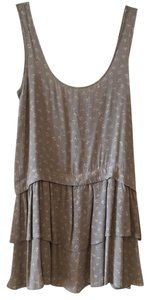 BCBGeneration short dress light gray with pattern on Tradesy