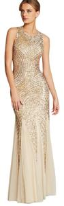 Aidan Mattox Sleeveless Beaded Gown Dress