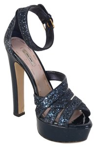 Miu Miu midnight blue Platforms