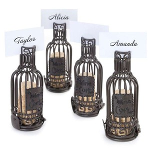 Blue Epic 72 Wine Bottle Cork Cage Place Card Holders Other