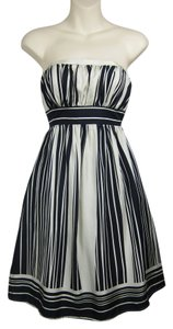 Anthropologie Striped Stripe Tube Strapless A-line Dress