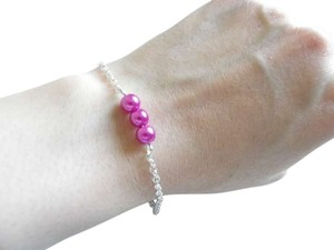 purple rose glass pearl bracelet