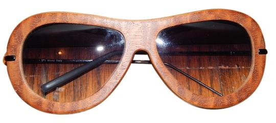 Other Wooden German Sunglasses with Black Sides and Lenses