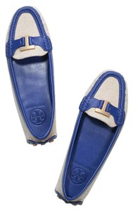 Tory Burch Moccasin Blue / Natural Flats
