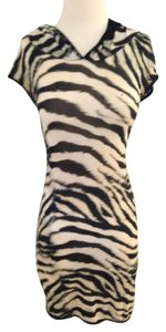 Roberto Cavalli short dress Animal Print Black and Tan on Tradesy