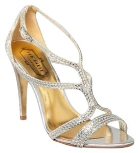 Ted Baker New Evening Strappy High Heel Metallic Sandals