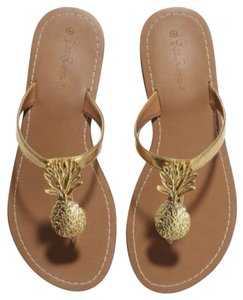 Lilly Pulitzer for Target Gold and Brown Sandals