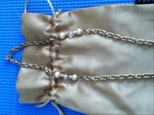 Other Vintage crystal and faux pearl necklace