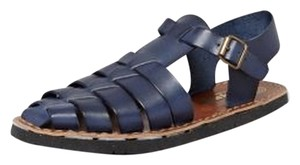 Jeffrey Campbell New Leather Navy Sandals