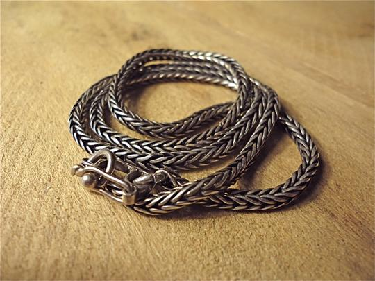 Other Vintage 925 Sterling Silver Bali Wheat Chain Necklace