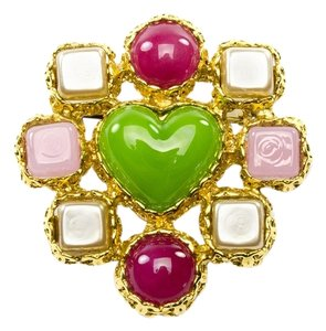 Chanel Chanel vintage Poured Glass Gripoix Brooch