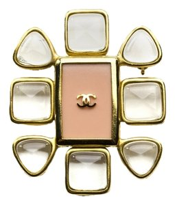 Chanel Chanel Lucite Pink Brooch