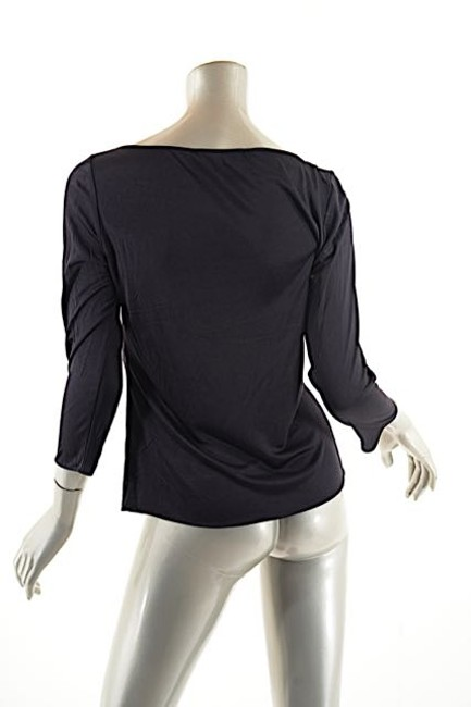 Emilio Pucci Silk Boat Neck Long Sleeve Tee Sweater