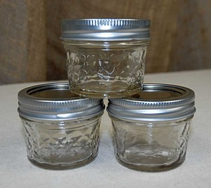 Ball Clear 4oz Quilted Jelly Mason Jars Votive/Candle