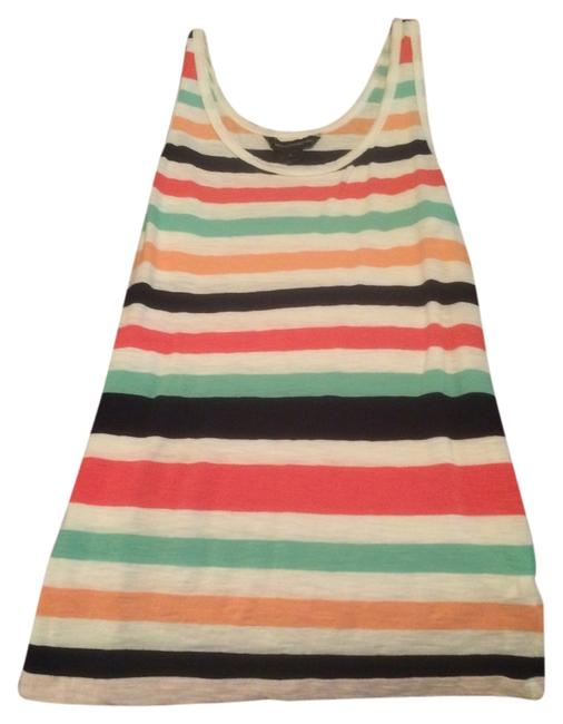 French Connection Top Multi stripe