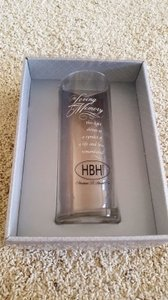 Hortense B. Hewitt Clear Memorial Cylinder Votive/Candle
