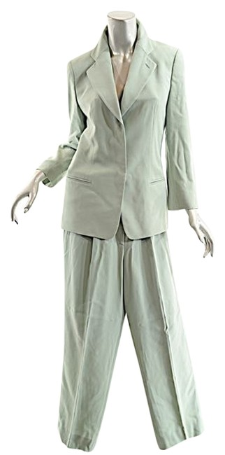 Preload https://item4.tradesy.com/images/giorgio-armani-celery-green-wool-whidden-placket-pant-suit-size-8-m-3647623-0-0.jpg?width=400&height=650