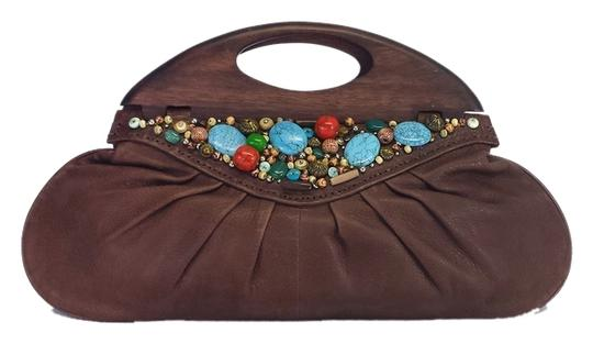 Preload https://item5.tradesy.com/images/cole-haan-limited-ed-brown-leather-beaded-one-size-clutch-3647794-0-0.jpg?width=440&height=440