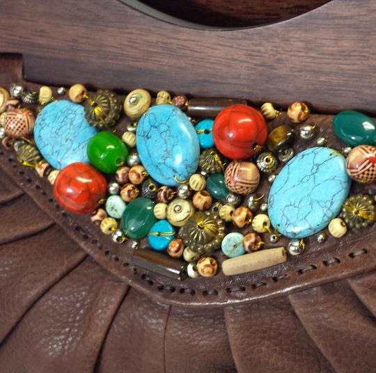 Cole Haan Limited Ed. Limited Edition Leather Beaded Clutch