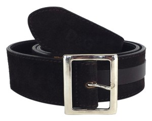 Dolce&Gabbana Brown Leather Suede Belt