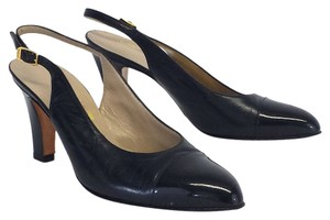 Salvatore Ferragamo Leather Slingback Heels Pumps