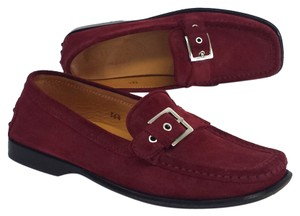 Tod's Burgundy Suede Loafers Flats