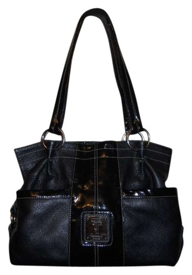 Preload https://item1.tradesy.com/images/tignanello-pebbled-patent-trim-black-leather-tote-364840-0-0.jpg?width=440&height=440