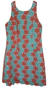 Lilly Pulitzer short dress Turquoise Coral on Tradesy