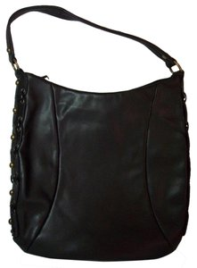 Donald J. Pliner Designer Grommets Never Worn Glove-like Leather Shoulder Bag