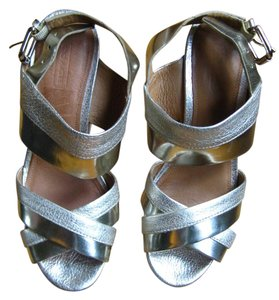 Coach Sandal Wedge Gold Gold, Silver Wedges
