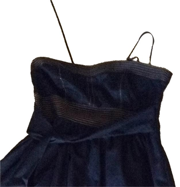 Way In Clothing Company short dress Denim Blue With Yellow/gold Stitching on Tradesy