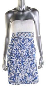 Sue Wong Beaded Delft Prom Cocktail Dress