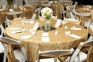 Champagne Pintuck Linens