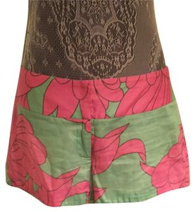 MILLY Shorts Green & Pink