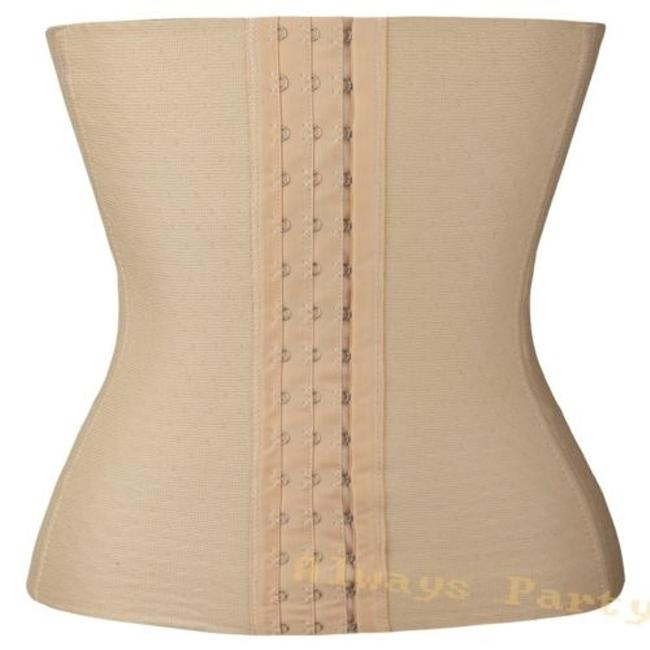 steel-bone Waist Trainer Cincher Waist Shaper Shaper Top Black/ Beige