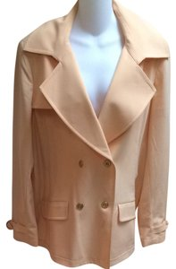 St. John Trench Coat Peachy/orange Blazer
