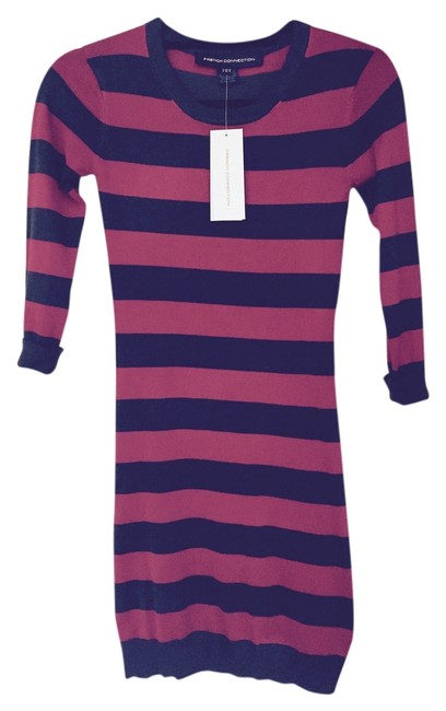 Preload https://item5.tradesy.com/images/french-connection-charcoalred-stripe-mini-short-casual-dress-size-0-xs-3649804-0-0.jpg?width=400&height=650