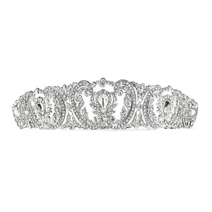 Mariell Retro Chic Vintage Wedding Tiara With Pave Crystals 4186t-s