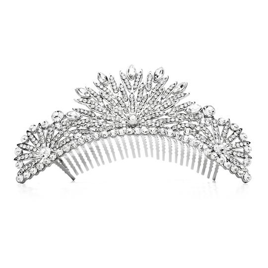 Preload https://item5.tradesy.com/images/mariell-silver-spectacular-crystal-art-deco-or-prom-comb-4188tc-s-tiara-3650074-0-0.jpg?width=440&height=440