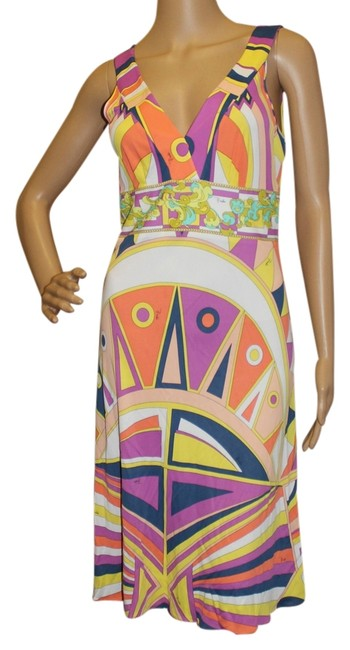 Preload https://item1.tradesy.com/images/emilio-pucci-multicolor-sleeveless-v-neck-knee-length-cocktail-dress-size-8-m-3650080-0-0.jpg?width=400&height=650