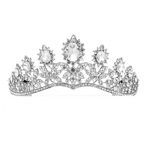 Mariell Silver Royal with Dramatic Curve 4189t Tiara
