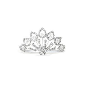 Mariell Silver Rhinestone Comb with Crystal Beads 3412tc Tiara