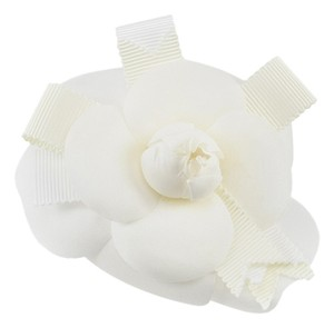 Chanel Chanel Ribbon Camellia Brooch