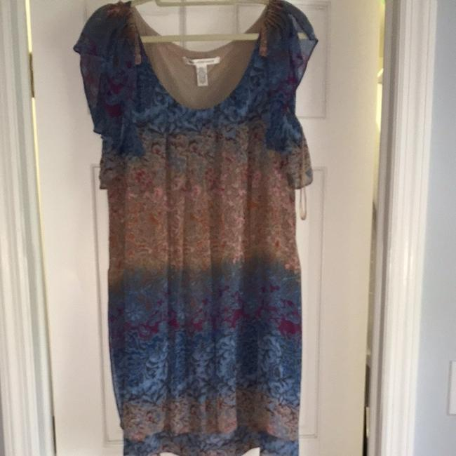 Diane von Furstenberg short dress Blue beige on Tradesy