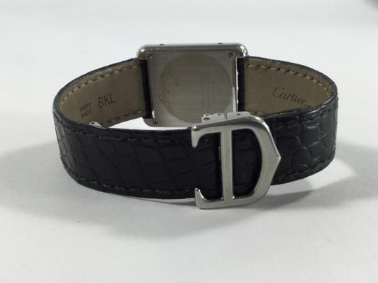 Cartier Black and Silver Tank Francaise Solo Watch