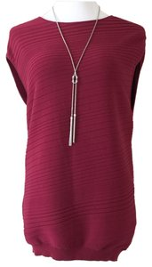 La Via 18 Knit Italian Sleeveless Comfortable Top Red